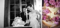 Cutting the wedding cake at Roberts Restaurant Hunter Valley