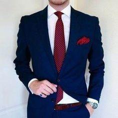 Mens Casual Dress Outfits, Blazer Outfits Men, Formal Men Outfit, Dark Blue Suit, Blue Suit Men, Mens Tailored Suits, Mens Suits, Gents Fashion, Mens Fashion Suits