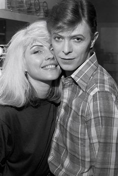 Debbie Harry and David Bowie backstage during the Idiot tour, c.1977  Photo by Chris Stein