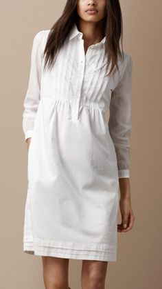 Burberry Brit cotton pin tuck shirt dress - love this dress!