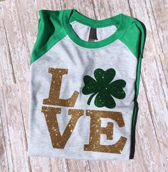 St Patricks Day shirt//Womens St Patricks Day shirt//Love St Patricks Day//Shamrock St Patricks Day Shirt// Women's St Patricks Shirt// 3/4 by OnHeavenlyLane on Etsy https://www.etsy.com/listing/267868859/st-patricks-day-shirtwomens-st-patricks