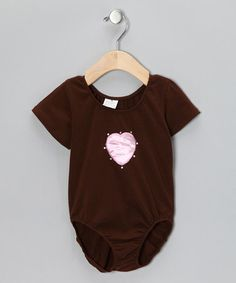 Love this Chocolate & Light Pink Heart Leotard - Infant, Toddler & Girls by The Princess and the Prince on #zulily! #zulilyfinds
