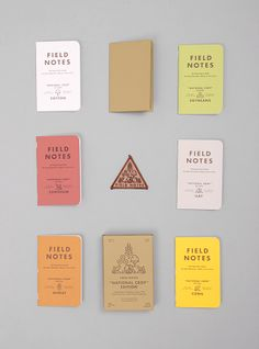 Field Notes (2012 National Crop Limited Edition) - notebooks made in the USA in these adorable colors, paying tribute to America's top 6 crops