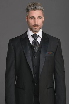 Steven Land Tuxedo and Steven Land Crystal Tie are perfect for Holiday events & Entertaining! Shop now at www.fashionmenswear.com