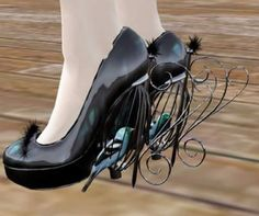 poor birds!!!!!  But interesting shoes!