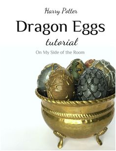 Harry Potter Dragon Eggs Tutorial    How to make dragon eggs   Hogwarts craft   HP Goblet of Fire