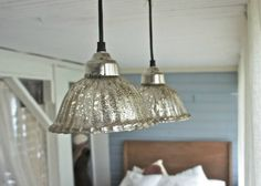 Coastal Home: How to guide: Add sparkle to your coastasl room with mercury glass, silver and glass