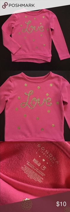 5yr Sonoma Girls LOVE pink shirt Great condition Sonoma Shirts & Tops Tees - Long Sleeve