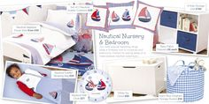 Nautical nursery and bedroom @ JoJo Maman Bebe