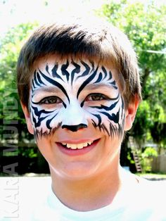 Zebra face paint idea
