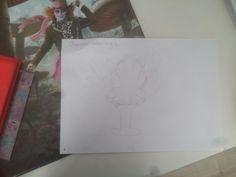 Dit is mijn tweede tekening met het thema oceaan voor een stoel (er zitten vlekjes in de foto omdat mijn camera kapot is)