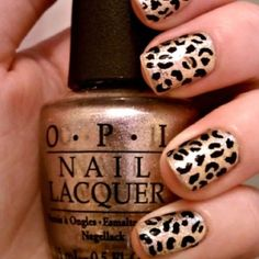 Leopard print nails  need these in purple