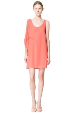 Image 1 of DRESS WITH SIDE GATHERING from Zara