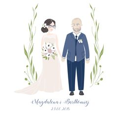 illustration, wedding, ilustracja, zaproszenie, miodunka, weddinginvitations, love, mioduszewskailustracje