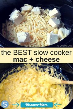 This delicious and easy to make mac and cheese will blow your mind! This is the best slow cooker mac and cheese to make this week. www.simplemost.co... #slowcooker #slowcook #slowcookerrecipes #slowcookerchicken