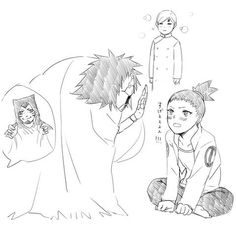 Uncle Kankuro / Shikadai :) btw Gaara really looks like a bussiness guy in this pick