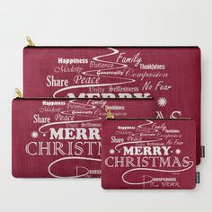 The Wishing Christmas Tree Carry-All Pouch by weivy Christmas Rose, Xmas, Presents For Friends, Makeup Pouch, My Themes, Organize Your Life, Website Themes, Good Cause, School Bags