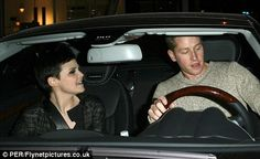 He drives her wild: Ginnifer looks so happy to be with her new beau