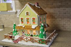-everywhere beautiful-: Instructions To Build A Gingerbread House  Great tutorial, all from scratch!