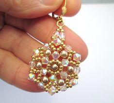 Cristal AB 2 X pendientes de cristal swarovski elementos