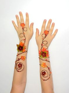 These beautiful Autumn arm cuffs would be a perfect accessory for my wedding gown