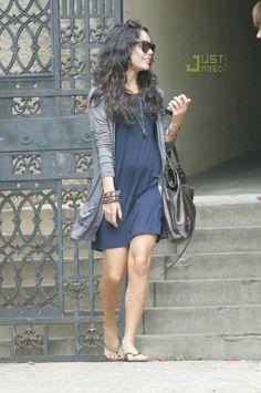 Vanessa Hudgens wearing Ray-Ban Wayfarers in Black and Balenciaga Brief Bag.