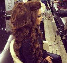 Hairstyles long curls mermaid