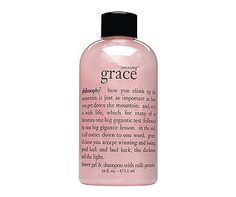 """Amazing Grace by Philosophy  -- body wash and shampoo in one!  Don't be fooled by the lack of """"bubbles.""""  It's a great product!"""