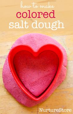 How to make colored salt dough recipe - great sensory play recipe and for kids crafts