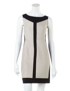 Textured Colour Block Dress - Cleo