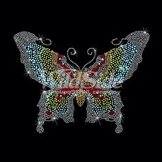 LIGHT COLORED BUTTERFLY - STONES/STUDS | The Wild Side