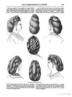 Décembre 1870 Victorian hair dressing used a great deal of false hair