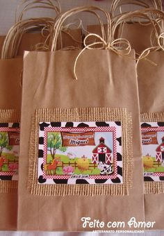 School Art Projects, Art School, 3rd Birthday, Birthday Party Themes, Farm Party, Paper Shopping Bag, Reusable Tote Bags, Crafts, Ideas