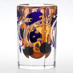 Olle Alberius - 'Ariel' art glass vase (h. 19 cm) for Orrefors 1991.