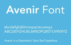 Avenir Font Family Free Download