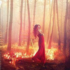 Photoshoot idea  The four elements: Fire