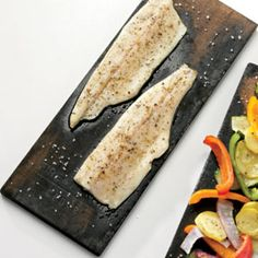 For summer, try grilling fish on a plank over the BBQ.  All the directions are there, looks easy, tasty, and a great new take on healthy summer food!  Enjoy!