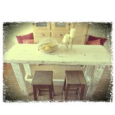 Eco Recycled Cottage Tall Bench Dining Table | GHIFY