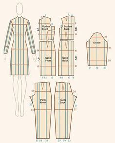 Want to adjust clothing patterns to fit your size? Quick Reference for Cut-and-Spread Pattern Grading | Patternmaking for Fashion Design | How to Draft Sewing Patterns | Pattern Fitting | How to Design Sewing Patterns