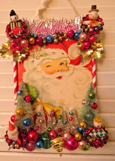 Vintage FUN Santa Claus Christmas Wall Decoration