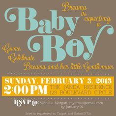 Loving Life Designs - Free Graphic Designs and Printables: Custom Design - {Baby Shower Invitation}