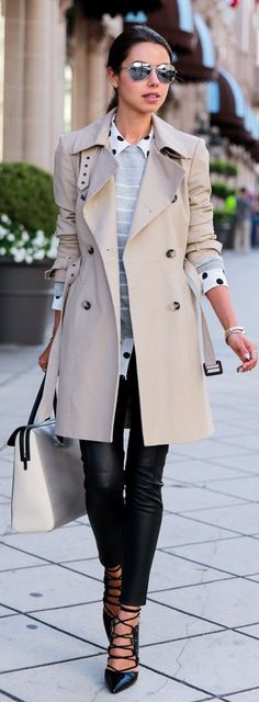 Daily New Fashion : Trench With Panel Detail
