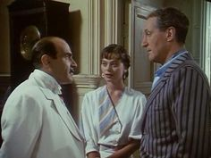 """Peril at End House"" David Suchet as Poirot, along with Hugh Fraser as Hastings Hercule Poirot, Agatha Christie's Poirot, Best Mysteries, Murder Mysteries, Peril At End House, Death In The Clouds, David Suchet, Cop Show, Tv Detectives"
