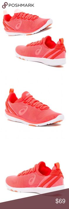GEL-Fit Sana 3 Cross Training Sneaker NEW NEW NEW Never worn but no box. Fits 7.5 - 8                  Color: Bright Coral/Orange - Lightweight - Training - Round toe with bumper - Mesh construction - Brand logo - Lace-up closure - Back pull-tab - Padded collar - Removable padded insole - Rubber bumper - Grip sole - Imported Asics Shoes Sneakers