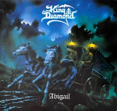 KING DIAMOND - Abigail RoadrunneR This is the first release of Abigail with the photo of Andy La Roque on the right hand side of the album back cover. Heavy Metal, Death Metal Collectable Heavy Metal on Vinyl Online Store King Diamond, Vinyl Music, Vinyl Records, Lp Vinyl, Art Music, Heavy Metal, Thomas Holm, Mercyful Fate, Extreme Metal