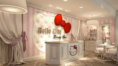 HK Beauty Spa - Having made the leap into cosmetics with Mac makeup, Hello Kitty is getting its paws further into the primping business with its first beauty spa --in Dubai.