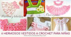 6 hermosos vestidos a crochet para niñas