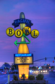 Pacific Bowl Neon Signs, Projects, Log Projects, Blue Prints