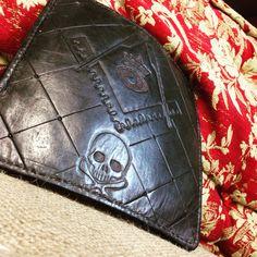 #masonry #tooled #handmade #leatherwallet #trucker #biker