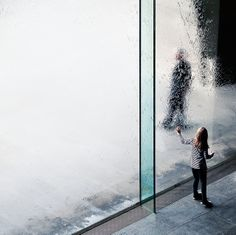 First touch by Sarah Pannell.  Taken at the  Waterwall, Victoria Arts Centre, Melbourne Australia